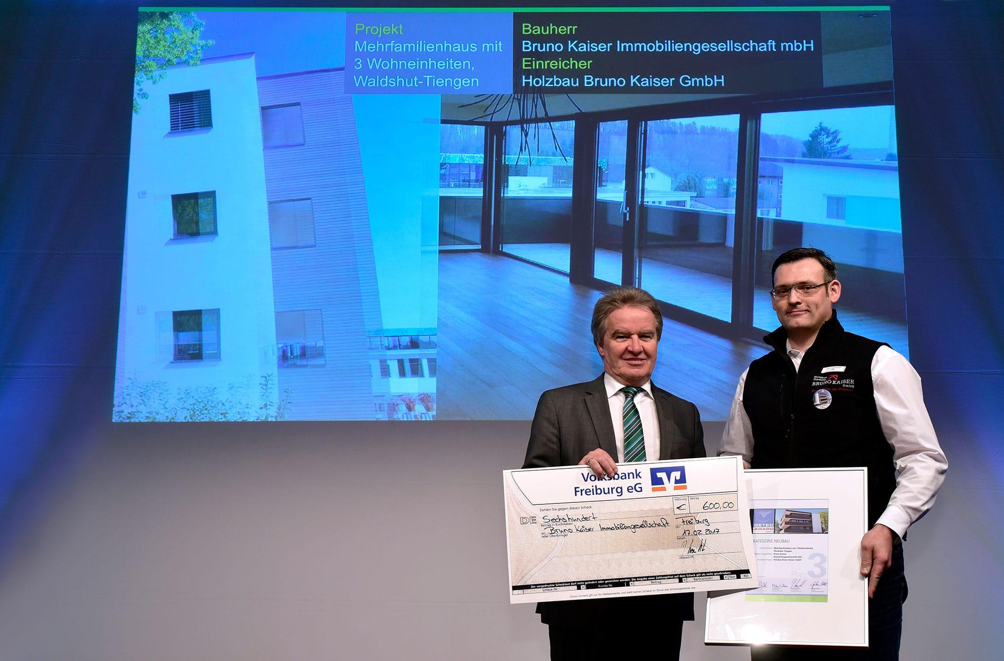 Bruno Kaiser - Auszeichnungen