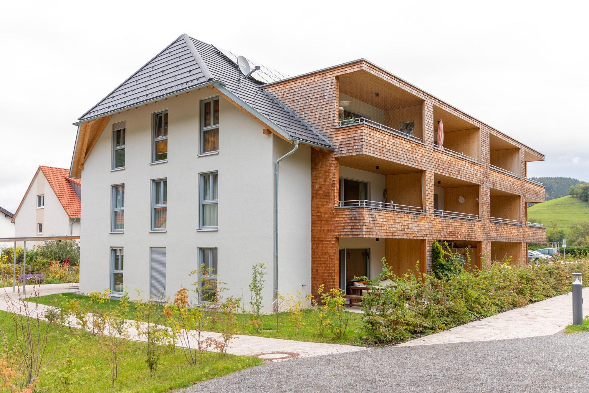 Mehrfamilienhaus aus Holz