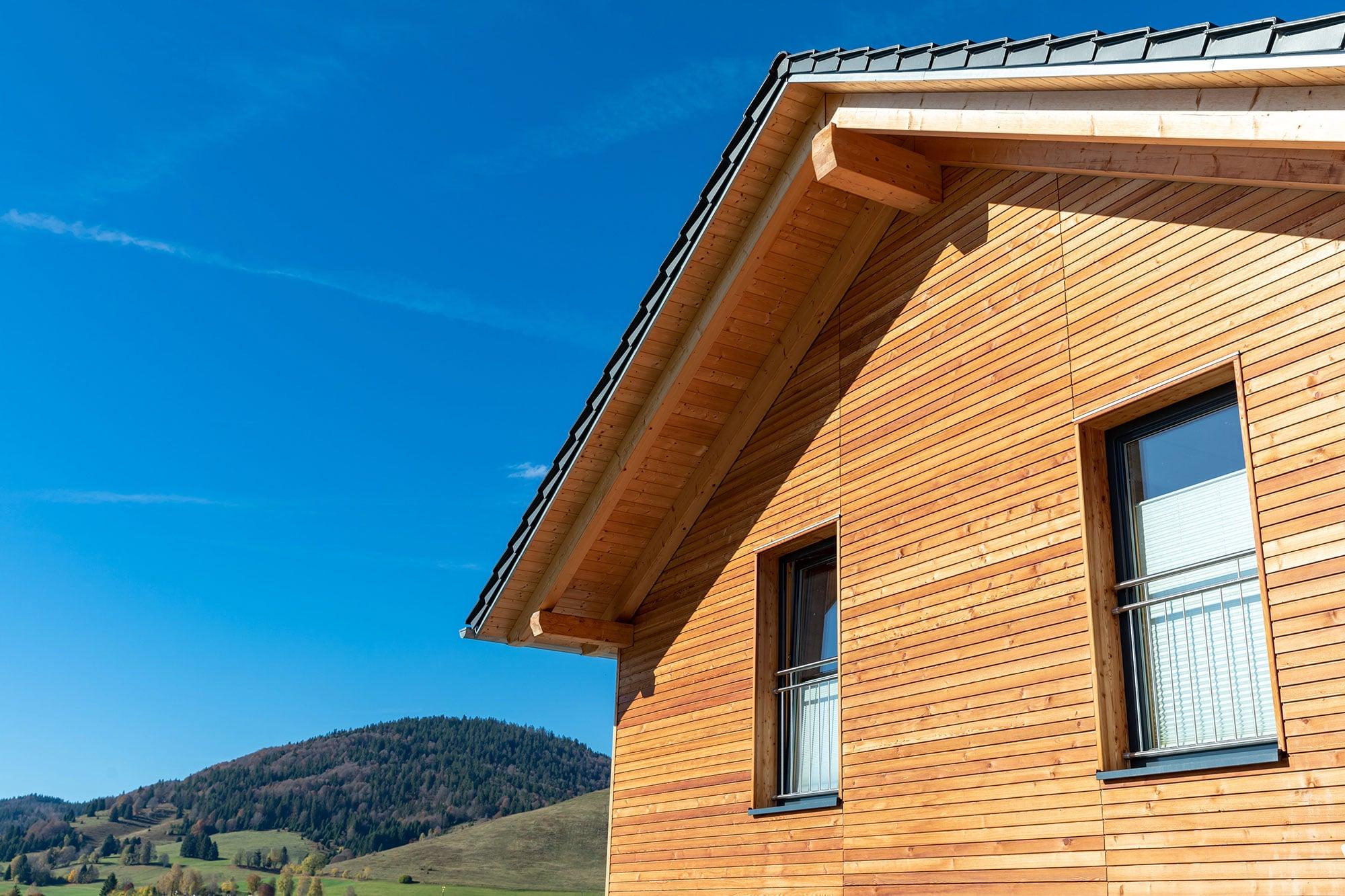 Ressourceneffiziente Häuser Holz
